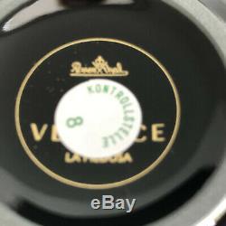 VERSACE La Medusa Black TEA CUP & SAUCER CELEBRATING 25 YEARS Rosenthal NEW