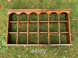 VINTAGE 18 Tea Cup Saucer 3 Tier Wood Hanging Display Shelf 36 Plate