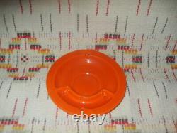 VINTAGE RED HARLEQUIN CUP & ASHTRAY SAUCER- FIESTAWARE k23