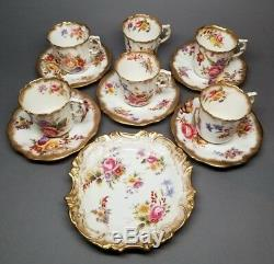 Vintage 1930s HAMMERSLEY DRESDEN SPRAYS Demitasse Cup & Saucer Sets Plate/Dish