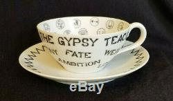 Vintage 1959 Gypsy Teacup Tea Leaf Reading Fortune Telling Cup And Saucer Exln