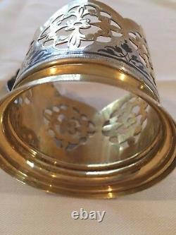 Vintage 875 Russian Silver Filigree Handmade 1 Podstakannik- Tea Cup Holder