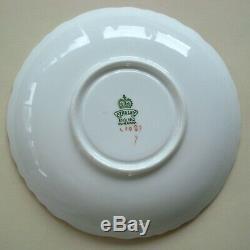 Vintage Aynsley Dogwood Flower Teacup Saucer Coral Pink England Bone China C1087