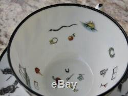 Vintage Halloween Fortune Telling Tea Cup And Saucer Witches Austria Vienna Rare