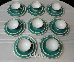 Vintage OLD BRUNSWICK 1747 FURSTENBERG Germany TEA SET 8 Cups, Saucers, Plates