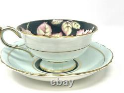 Vintage Paragon Double Warrant Cabbage Rose Gilt Teacup Saucer Bone China
