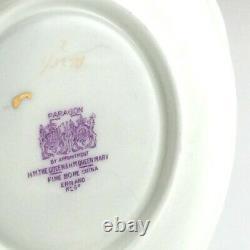 Vintage Paragon Double Warrant Cabbage Rose Gilt Teacup Saucer Bone China L068