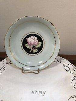 Vintage Paragon Double Warrant Pink Cabbage Rose Gilt Cup & Saucer Bone China