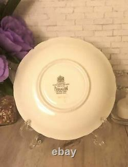 Vintage Paragon Fine Bone China Pastel Yellow Cabbage Rose Teacup and Saucer