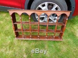 Vintage Tea Cup Saucer Wood Hanging Display Shelf 3 Tier Curio wall shelf