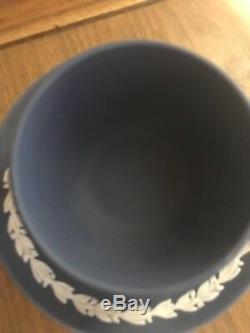 Vintage WEDGWOOD blue Primrose DANCING HOURS Jasperware TEACUP Cup & Saucer
