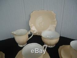 Vintage bell bone china england 21 piece tea set nude skin pink 6 cups & saucers