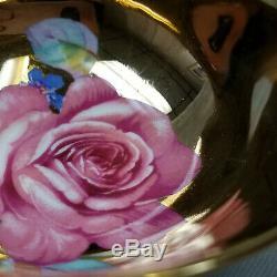 Vtg Paragon Cabbage Rose on Gold Black Tea Cup & Saucer Bone China by Appt #1