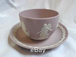 Wedgwood Jasperware Lilac and White Tea Cup and Saucer