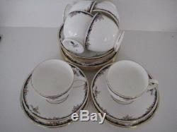 Wedgwood Osborne China England Full Tea Set Teapot Jug Sugar 6x Cup Saucer Plate