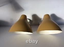 X2 Original Scones Wall lights 1950s Vintage Mid Century In very good condition