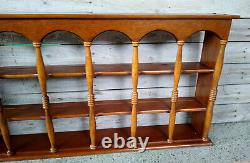 XLNT Vintage Colonial Style 3 Tier 18 Plate Teacup Mug Wall Display Rack Shelf