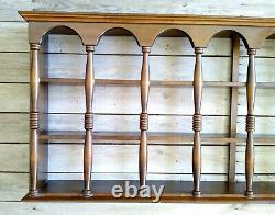 XLNT Vintage Colonial Style 3 Tier 24 Plate Teacup Mug Wall Display Rack Shelf