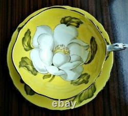 Yellow Paragon Double Warrant Teacup & Saucer Magnolia Very RARE